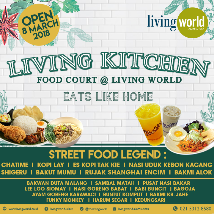 "LIVING KITCHEN: FOOD COURT AT LIVING WORLD ""EATS LIKE HOME"" SECOND FLOOR"